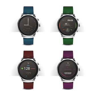 Inteligentny zegarek z zestawem wyświetlacza cyfrowego