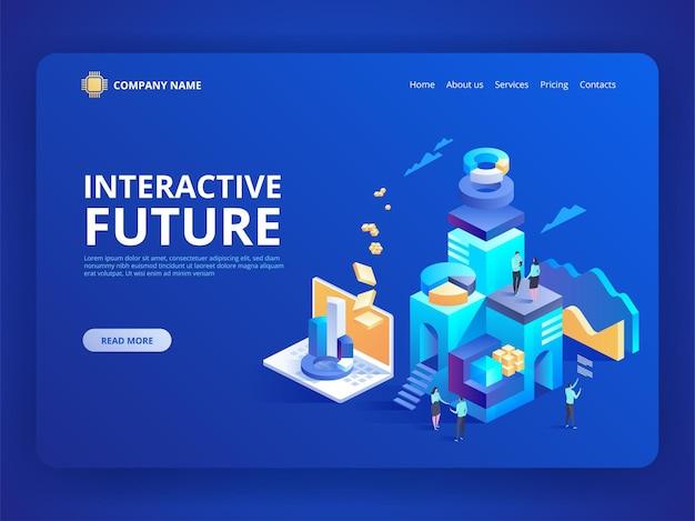 Interaktywna innowacja przyszłości. handel detaliczny i styl życia w sklepie. społeczne miasto przyszłości.