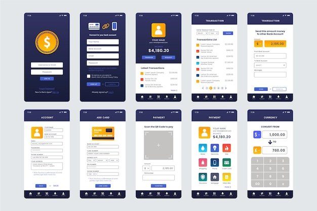 Interfejs aplikacji bankowej