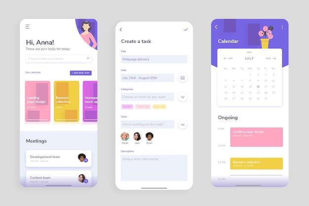 Interfejs aplikacji do zarządzania zadaniami