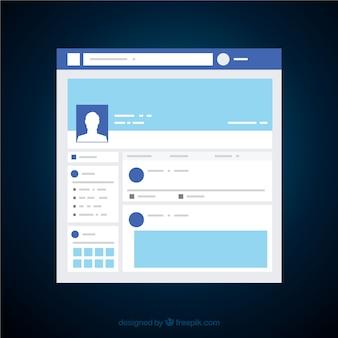 Interfejs aplikacji facebook o minimalistycznym designie