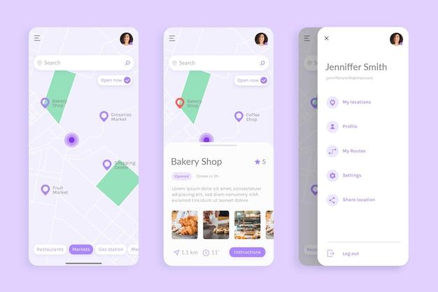 Interfejs aplikacji lokalizacji