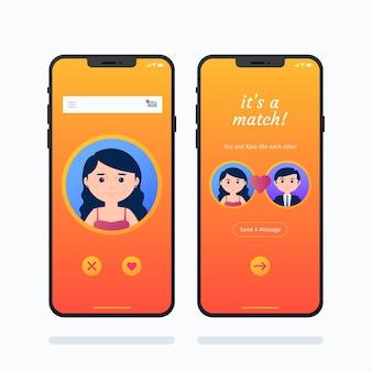 Interfejs aplikacji randkowej