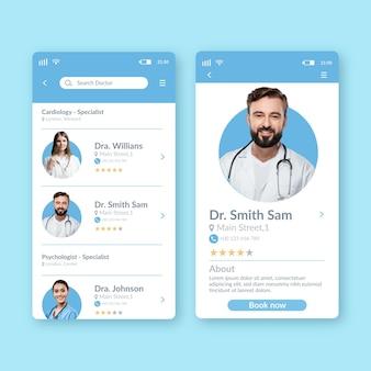 Interfejs aplikacji rezerwacji medycznej