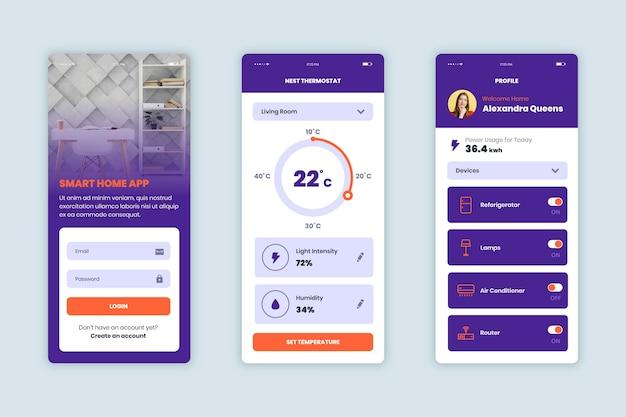 Interfejs aplikacji smart home