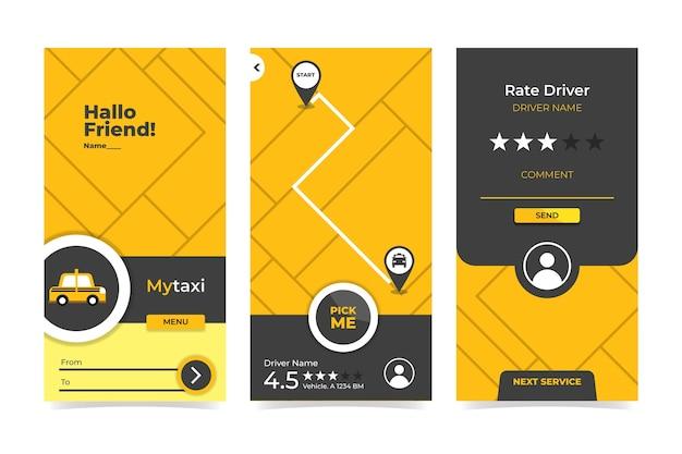Interfejs aplikacji taxi