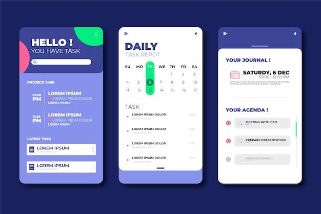 Interfejs do aplikacji do zarządzania zadaniami