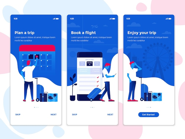 Interfejs ekranu aplikacji mobilnej
