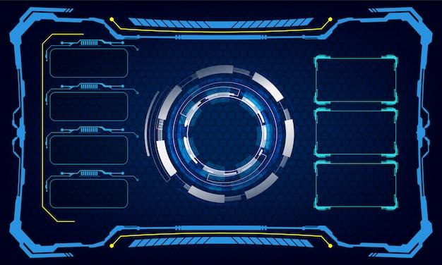 Interfejs interfejsu użytkownika szablon cyber innowacyjne pojęcie tła