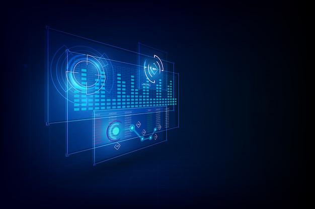 Interfejs interfejsu użytkownika szablon interfejsu cyber innowacyjna koncepcja