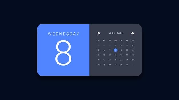 Interfejs kalendarza