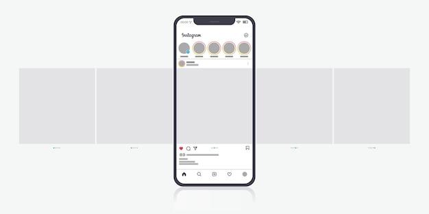 Interfejs karuzeli na instagramie