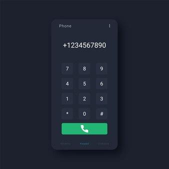 Interfejs klawiatury telefonu