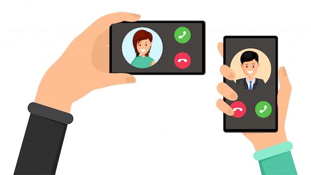 Interfejs przychodzącej rozmowy telefonicznej