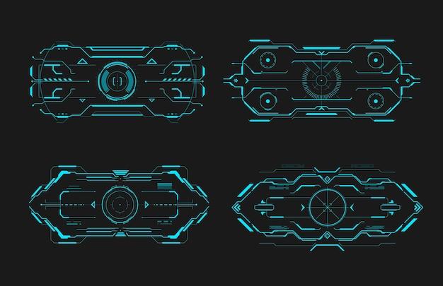 Interfejs ramki kontroli celu hud futurystyczny ekran docelowy