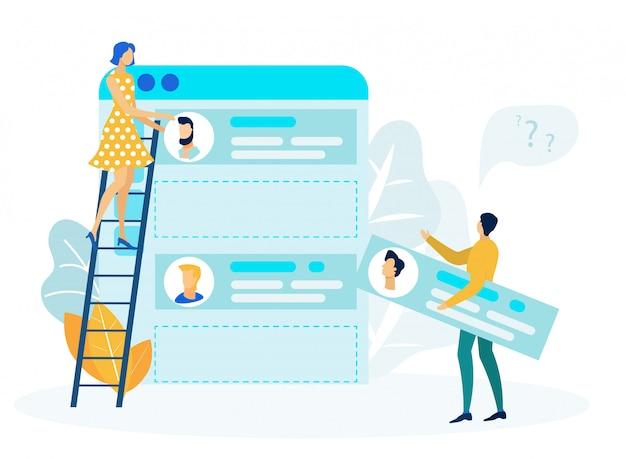 Interfejs użytkownika, projektanci ux w ilustracji wektorowych płaski pracy