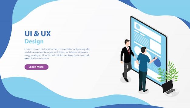 Interfejs użytkownika ui ux i baner doświadczenia użytkownika