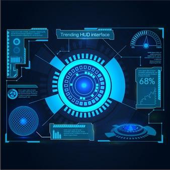 Interfejs w niebieskich kolorach