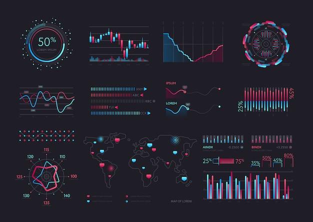 Interfejs wektorowy inteligentnej technologii hud