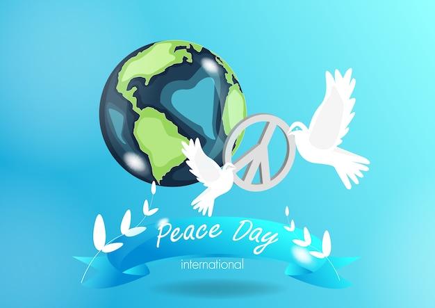 Internationnal pokoju dzień, nieba tła wektor