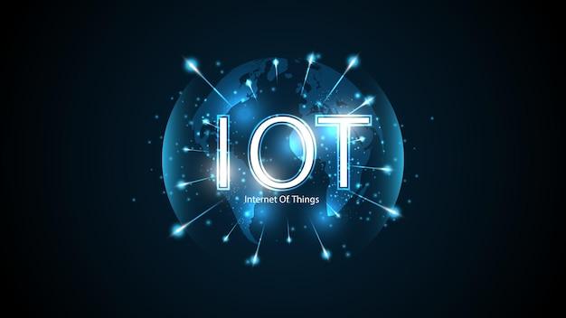 Internet przedmiotów. koncepcja łączności iot. tło technologii łączenia globalnej sieci