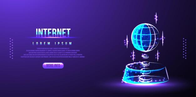 Internet rzeczy (iot), urządzenia i koncepcje łączności w sieci, chmura w centrum. obwód cyfrowy