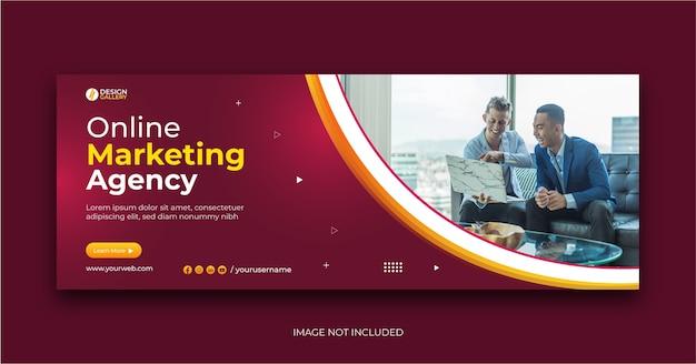 Internetowa agencja biznesowa i nowoczesny kreatywny szablon banera internetowego