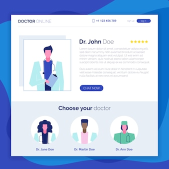 Internetowa strona internetowa z poradami dotyczącymi konsultacji lekarskich