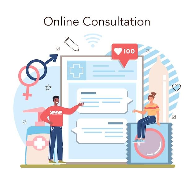 Internetowa usługa lub platforma edukacji seksualnej. lekcja zdrowia seksualnego