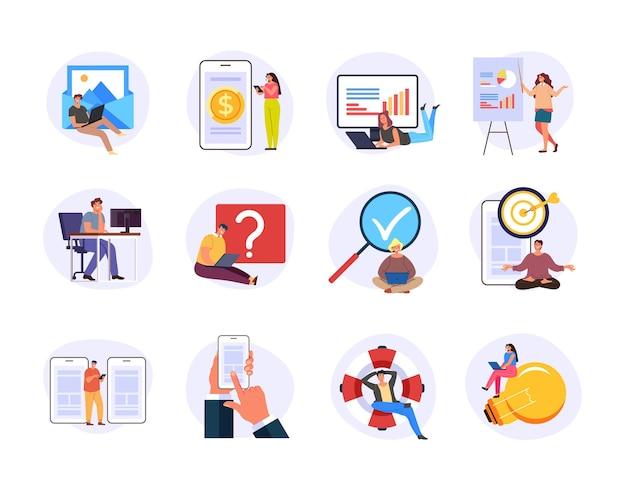 Internetowe usługi internetowe online możliwości witryny internetowej przy użyciu koncepcji.