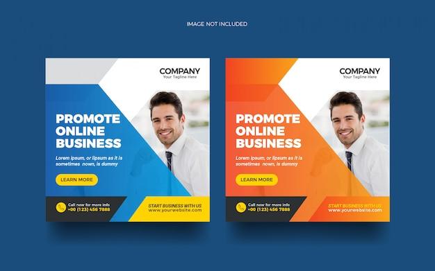 Internetowy biznes w mediach społecznościowych oraz baner internetowy