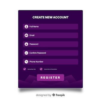 Internetowy formularz rejestracyjny