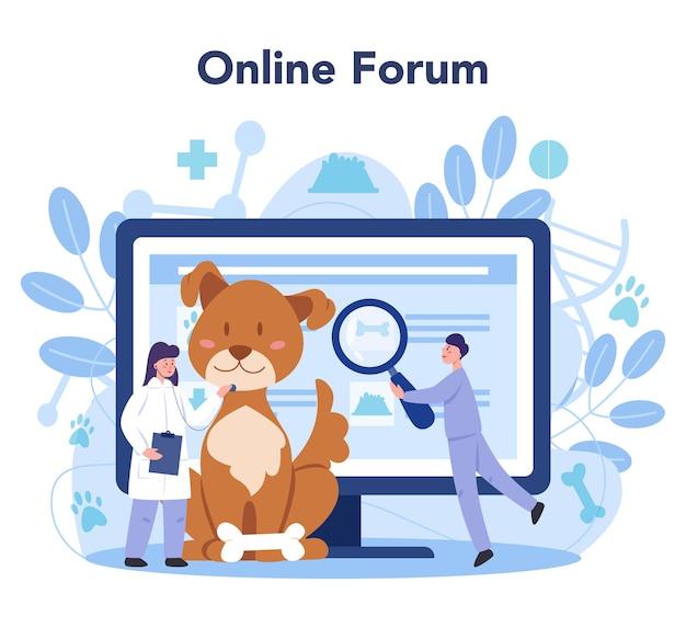 Internetowy serwis lub platforma weterynaryjna dla zwierząt domowych