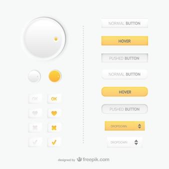 Internetowych przyciski sterowania wektorem