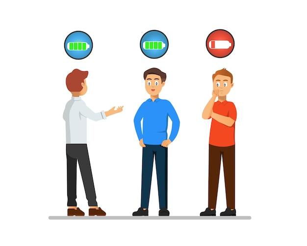 Introwertyk, który wydaje się wydawać dużo energii, gdy musi się zbierać i rozmawiać ze swoimi przyjaciółmi.