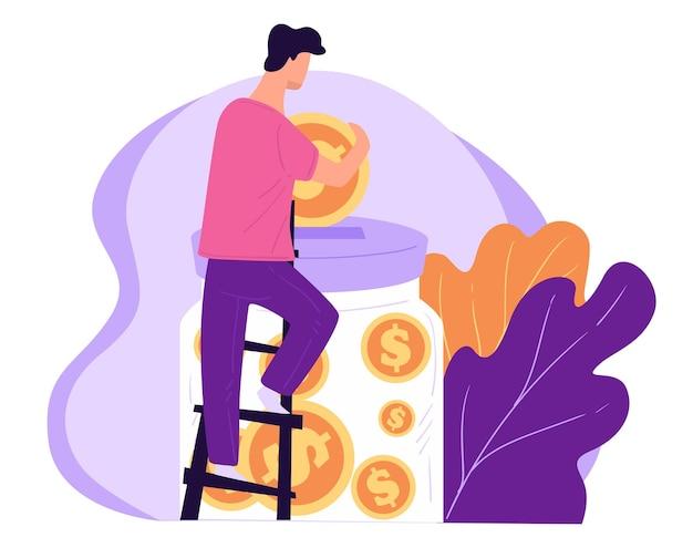 Inwestowanie lub oszczędzanie pieniędzy na przyszłość