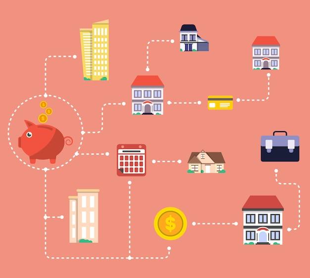 Inwestycje w infografiki nieruchomości