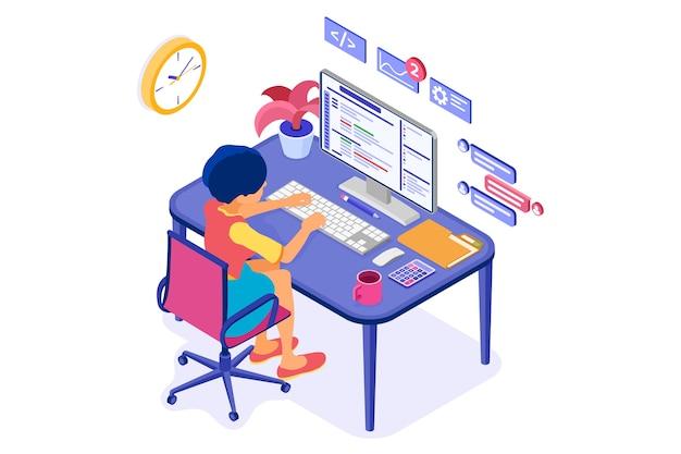 Inżynier oprogramowania opracowujący program