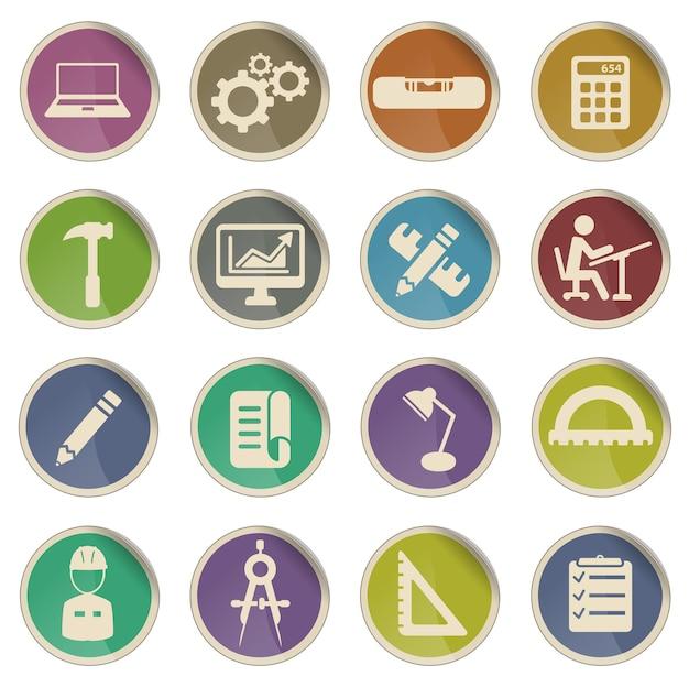 Inżynieria po prostu symbol ikon internetowych
