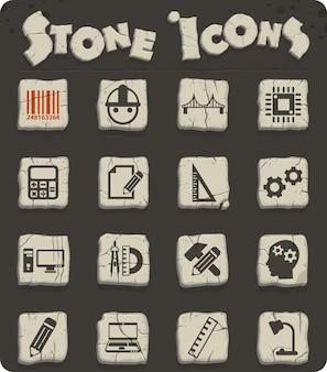 Inżynierskie ikony wektorowe do projektowania sieci i interfejsu użytkownika