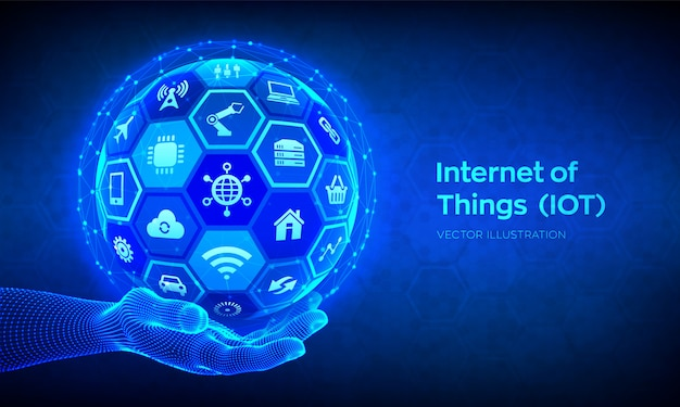 Iot. internet rzeczy w tle