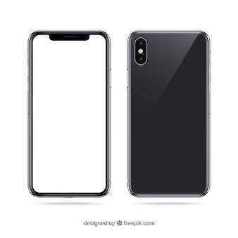 Iphone x z białym ekranem
