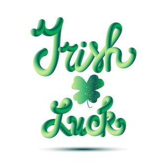 Irish luck lettring in clover
