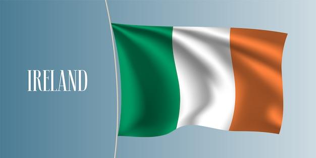 Irlandia macha flagą