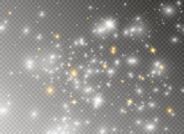 Iskry i gwiazdy błyszczą specjalnym efektem świetlnym.
