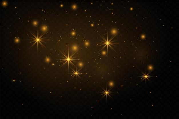 Iskry kurzu i złote gwiazdy lśnią specjalnym światłem