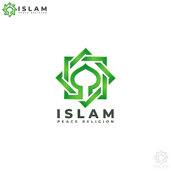 Islam - szablon logo religii pokoju