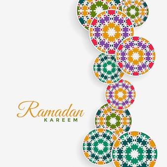 Islamska deseniowa dekoracja ramadan kareem tło