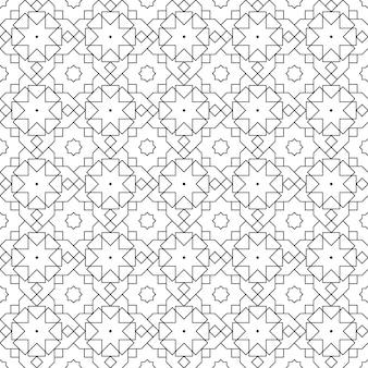 Islamska geometryczna bezszwowa deseniowa tło tapeta w luksusowym batiku stylu