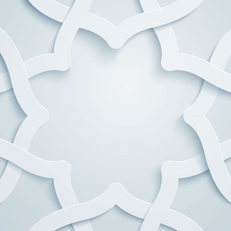 Islamska grafika wektor wzór geometryczny ornament